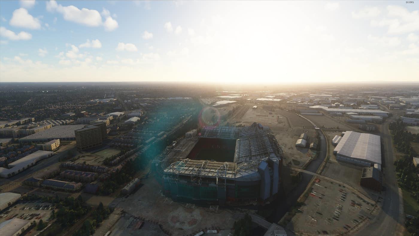 old trafford manchester united stadium w lods v1 0 msfs2020 scenery mod flight simulators addons