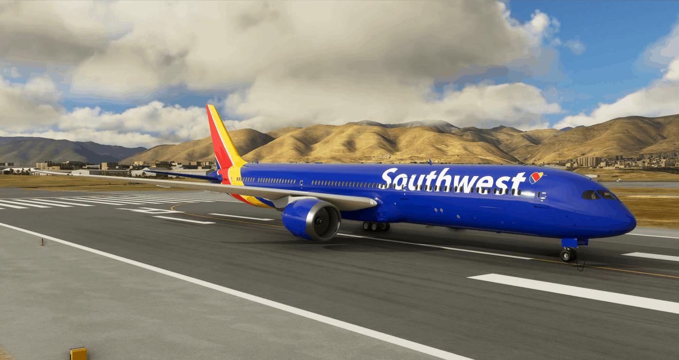 Southwest Boeing 787 - 8K v1.0 - MSFS2020 Liveries Mod