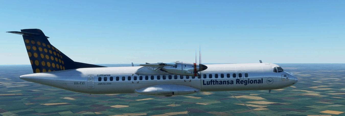 ATR72-600 Lufthansa Regional v1.0 - MSFS2020 Liveries Mod